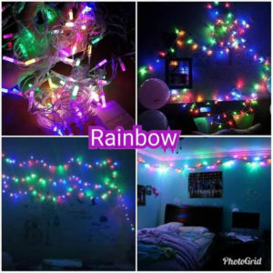 (RAINBOW 4 WARNA) Lampu Tumblr 10 Meter LED Kerlap Kerlip