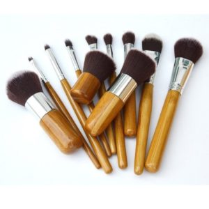 Kuas Make Up Bamboo Kabuki 11 Pcs