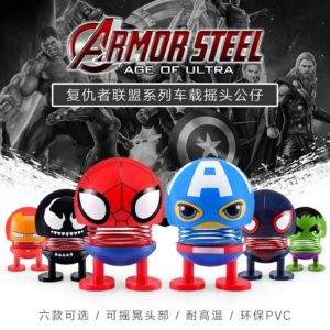 [MINI 1 SET] Boneka MARVEL Series Per Goyang Pajangan Dashboard Mobil