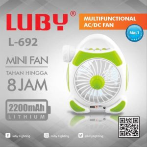 Lampu Kipas Senter Emergency Luby