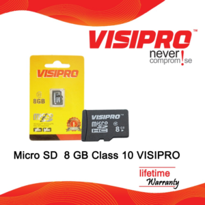 VISIPRO Micro SD Memory Card 8GB Class 10