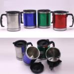 Gelas Mug Kopi / Teh Panas Stainless Steel 350 ml