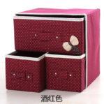 Storage Box Organizer 3 Laci (2 Kecil, 1 Besar) Multifungsi