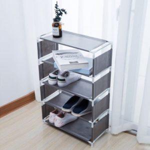 Rak Sepatu Portable 5 Susun Serbaguna Kemasan Plastik
