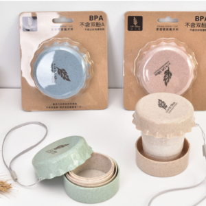Gelas Travel Lipat Unik Bentuk Tutup Botol BPA Free