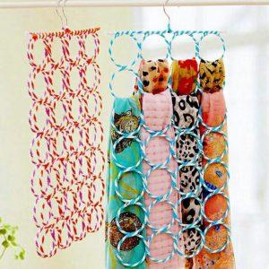 Hanger Gantung Syal / Jilbab Dengan 28 Gantungan