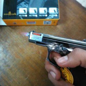Korek Api Gas Pistol Browning 9 mm Unik