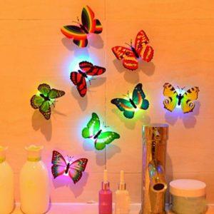 LED Kupu Kupu Lampu Hias Kamar Butterfly Unik