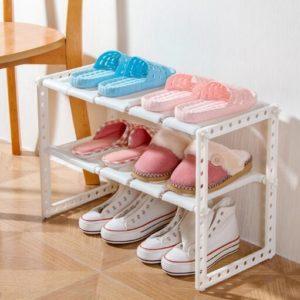 257 Rak Sepatu Dapur Buku Portable Serbaguna 2 Susun