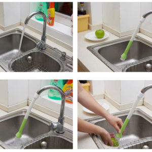 Sambungan Kran Dengan Kuas (Bisa diputar, ditekuk, hemat air)