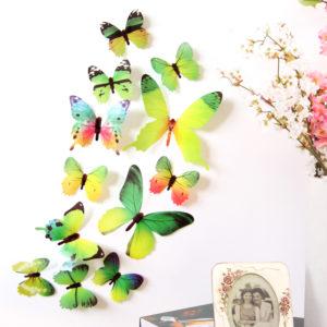 Stiker Dinding 3D Kupu-kupu Hiasan Tembok PVC