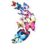 Stiker Dinding 3D Kupu-kupu MAGNET Hiasan Tembok PVC