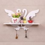 Rak Dekorasi Vintage ANGSA COUPLE Hiasan Dinding Shabby Chic 498