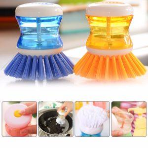 Sikat Cuci Piring Dilengkapi Dengan Tempat Sabun Cair