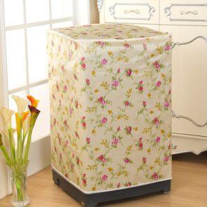 Tutup Cover Pelindung Mesin Cuci 1 Tabung Motif Bunga Mawar