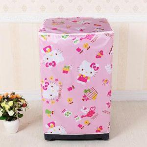 Tutup Cover Pelindung Mesin Cuci 1 Tabung Motif Hello Kitty