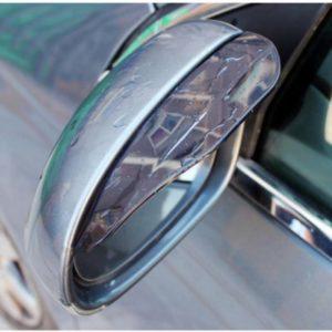 (1 Set Isi 2 Pcs) Mika Pelindung Spion Mobil Dari Hujan