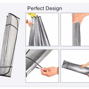 Peredam Panas Kaca / Pelindung Dashboard Mobil Aluminium Foil