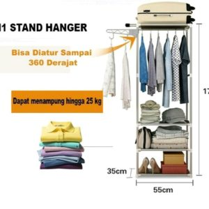 Rak Pakaian Portable Hanger Gantungan Baju Serbaguna X18
