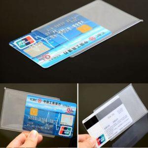 Plastik Cover Pelindung Kartu ATM, KTP, SIM, dll