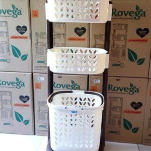 Rovega Keranjang Pakaian Premium Laundry Basket 3 Level RLB-300