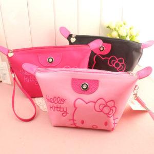 Dompet Kosmetik Hello Kitty Bordir