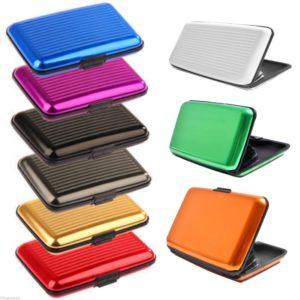 Dompet Tempat Kartu POLOS Card Holder Aluminium
