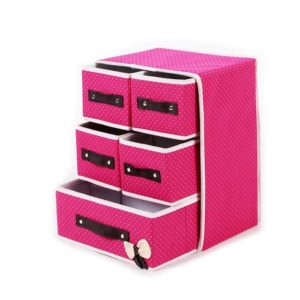 Storage Box Organizer 5 Laci (4 Kecil, 1 Besar) Multifungsi