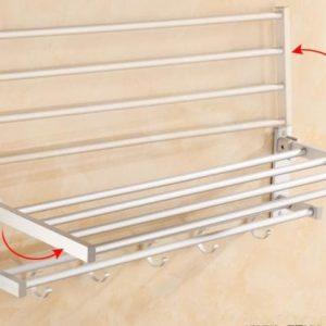 261 Rak Handuk Dinding Kamar Mandi Aluminium