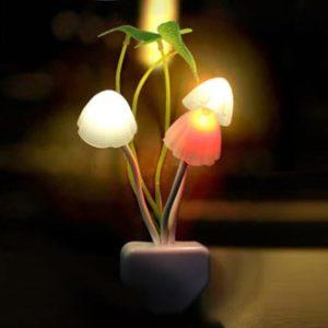 Lampu Tidur Jamur Dengan Sensor Cahaya