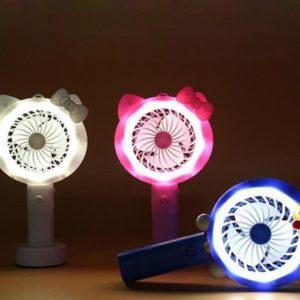 Kipas Genggam Karakter LED