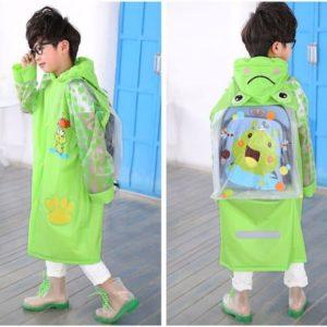 Jas Hujan Anak Karakter Dengan Ruang Untuk Tas Ransel