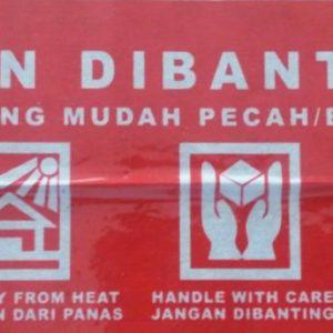 Lakban Fragile Merah (Jangan Dibanting)