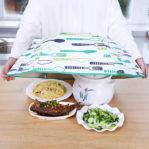 Tudung Saji Makanan Lipat Model PAYUNG Dengan Penahan Panas Dan Dingin