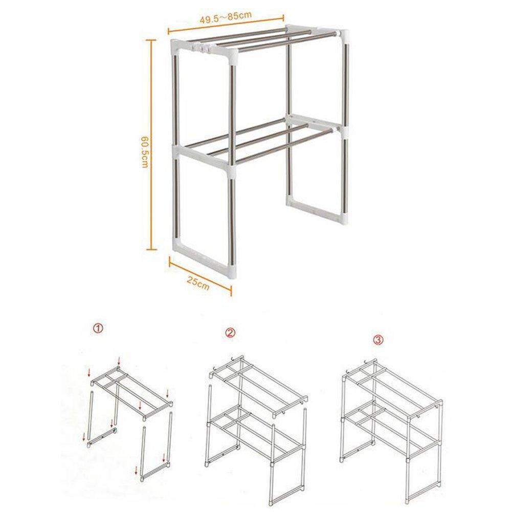 Beza Oven Dan Microwave: Rak Microwave / Oven 2 Susun Serbaguna