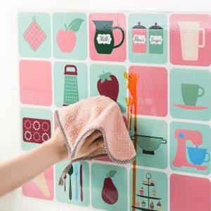 Wallpaper Stiker DAPUR Anti Minyak 45 x 70 cm Bahan Aluminium Foil