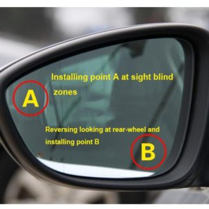 (2 Pcs) Kaca Spion Cembung Tambahan Mobil