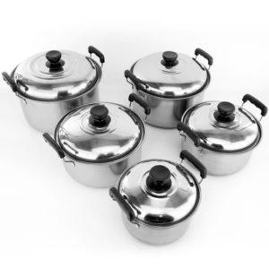 Panci Set UGO Stainless Steel Isi 5 Pcs