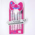 Kuas Make Up Set HELLO KITTY Isi 5 Pcs Kemasan Mika