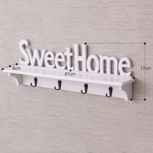 Rak Dekorasi Vintage SWEET HOME Hiasan Dinding Shabby Chic Serbaguna