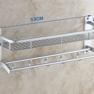 264 Rak Handuk Dinding Kamar Mandi Aluminium NEW