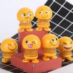 Boneka Emoji Per Goyang Pajangan Dashboard Mobil dan Motor