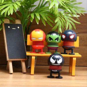 Boneka MARVEL Series Per Goyang Pajangan Dashboard Mobil