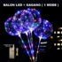 Balon LED Tumblr 1 MODE + Gagang