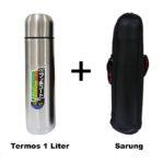 Termos Stainless Steel 1 Liter + Sarung