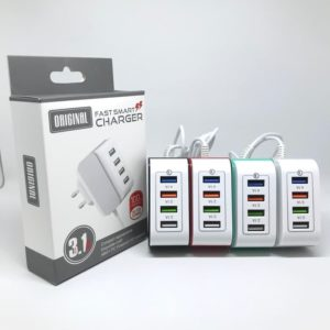 Adaptor Charger 4 Port USB 3.1A Fast Charging
