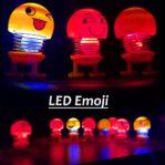 (LED/NYALA) Boneka Emoji Per Goyang Pajangan Dashboard Mobil