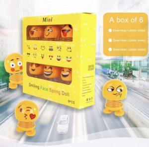 [MINI 1 SET] Boneka EMOJI Per Goyang Pajangan Dashboard Mobil
