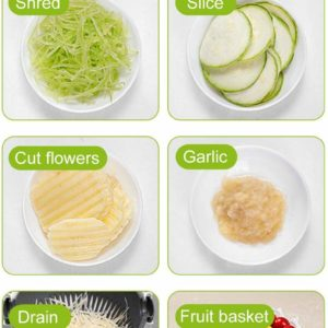Alat Pemotong Sayur 9 In 1 Multifungsi Dengan Tirisan