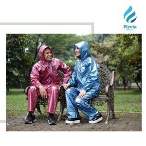 Jas Hujan Setelah Jaket Celana Polkadot Plevia 810